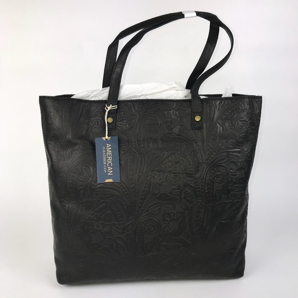... 100% authentic 3c0fe 2f07d American Leather Company Nashville Floral  Tote ... fc60b5f131